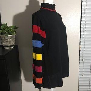 Colleen Conrad Black Turtleneck Knit Sweater